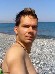 Gordon am Strand
