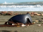 Sonnenbrille am Strand
