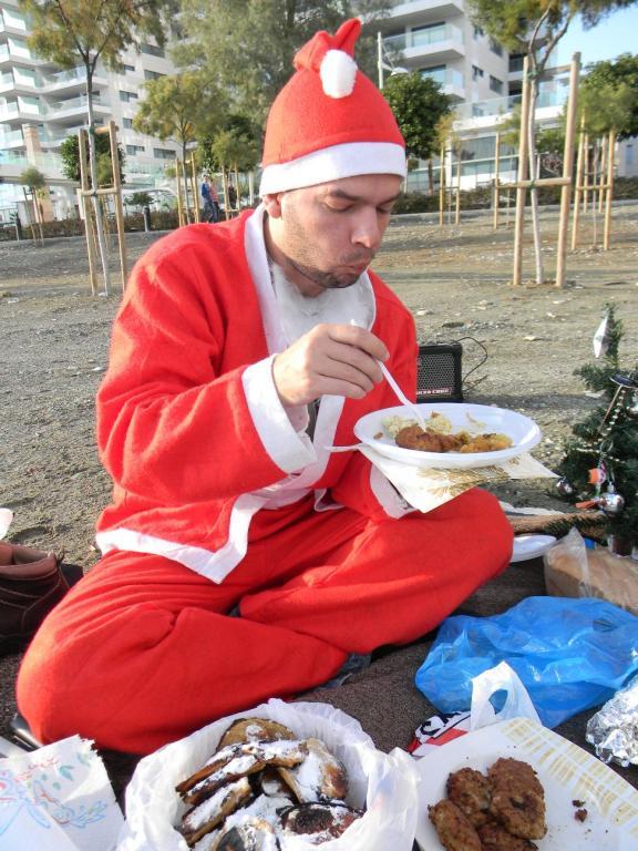 Auch der Weihnachtsmann muss was essen