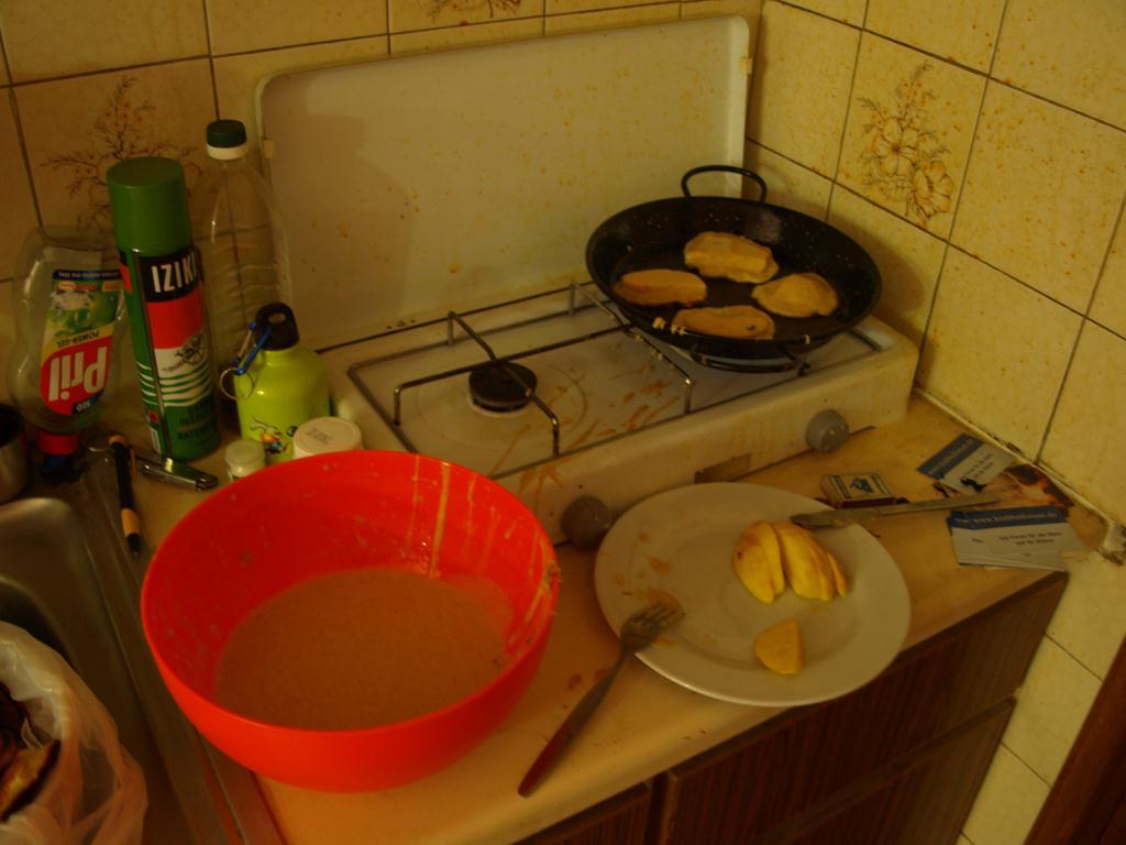 Meine Küche beim Backen