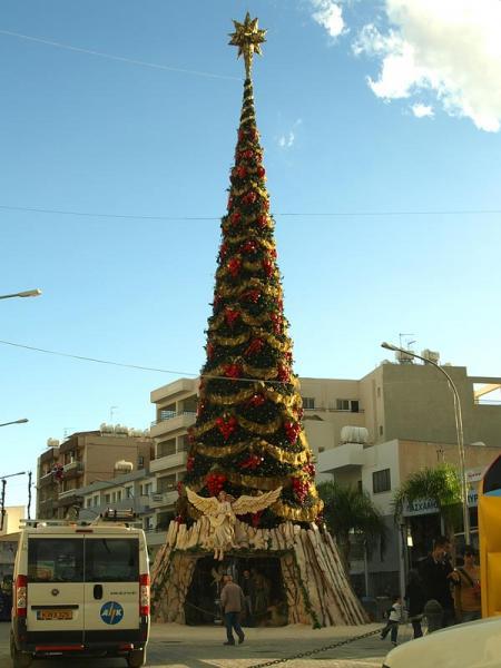 Weihnachtsbaum in Larnaka