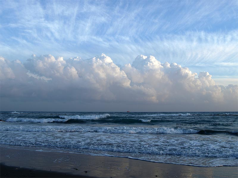 Schöne Wolkenformation